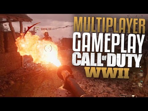 Call of Duty: WW2 Multiplayer Gameplay (CoD WWII Flamethrower, War Mode, M1 Garand, & Sniping)