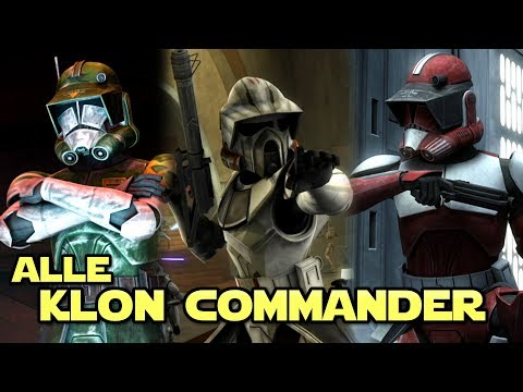 Star Wars: Alle bekannten Klon Commander [Legends]