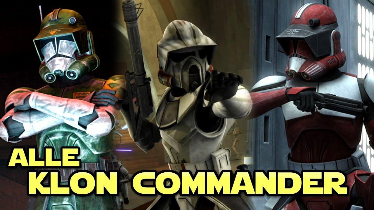 Star Wars Alle Bekannten Klon Commander Legends Youtube
