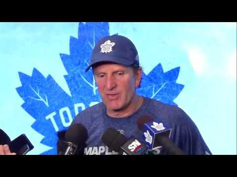 Maple Leafs Practice: Mike Babcock - January 9, 2018