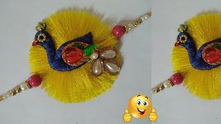 Easy peacock rakhi