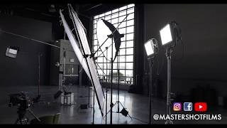 INTERVIEW LIGHTING SETUP IN LARGE STUDIO IN NYC