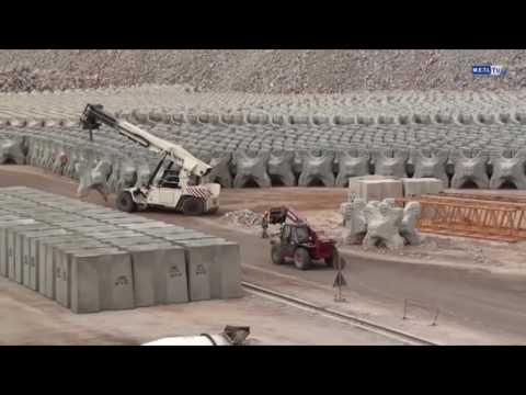 Construction du nouveau port de Safi