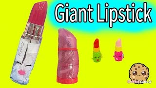 Giant Lipstick Filled with Handmade Surprise Blind Bags at Shopkins Makeup Spot