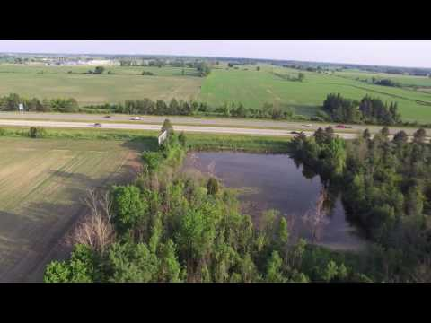Flying Above Pond At 100 Feet In Auburn Michigan
