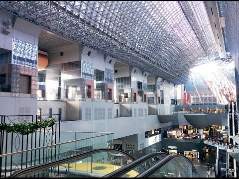 Kyoto Train Station Walkthrough. Kyoto, Japan
