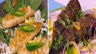 سمك حار مع سلطة برتقال - دجاج بالجبنة الريكفورد | عمايل إيديا حلقة كاملة