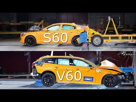 2019 Volvo V60 Vs 2019 Volvo S60 CRASH TEST