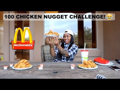 100 CHICKEN NUGGET CHALLENGE!!! (HILARIOUS)