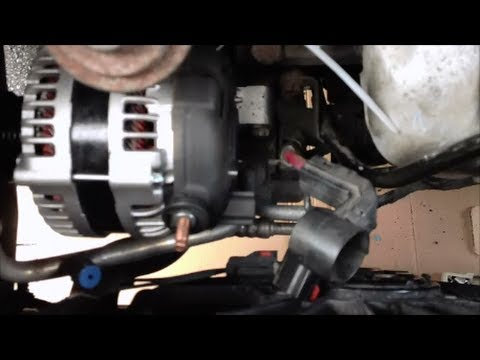 hqdefault change alternator on dodge grand caravan youtube 2006 dodge caravan engine wiring harness at mifinder.co