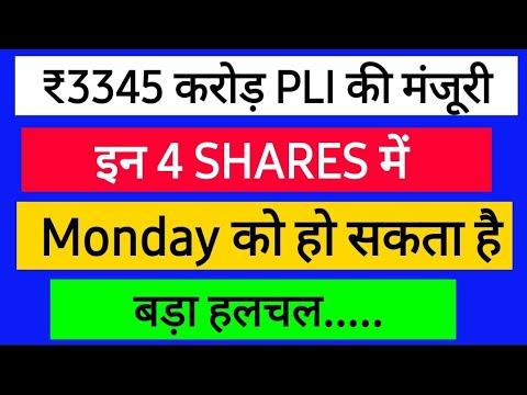 Download Top 4 Shares जिसमें हो सकता है बड़ा हलचल | PLI Shares | Stock market..