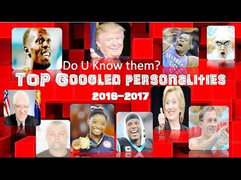 Top search in youtube: 2017: Donald Trump Hillary Clinton Michael Phelps Bernie Sander Ryan Loc