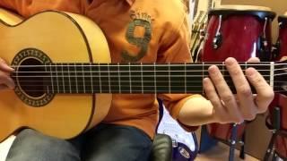 """Cómo tocar: """"POPEYE EL MARINO"""" canción 11 del Curso de guitarra para niños y principiantes"""