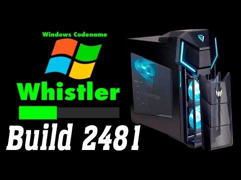 Установка Windows Whistler Build 2481 на современный компьютер