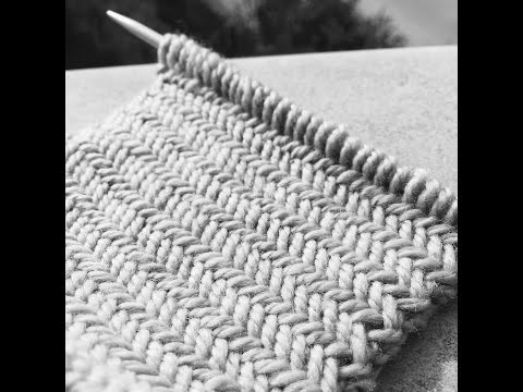 knitting patterns Herringbone stitch pattern Le point de che