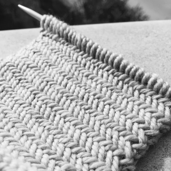 knitting patterns Herringbone stitch pattern Le point de chevron ?????? ???? ...