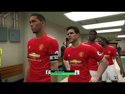 PES 2017 Pes Professionals Patch Gameplay + ReShade FX Man Utd v Man City
