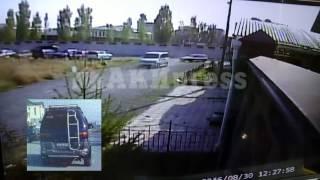 Эксклюзив. Момент взрыва в посольстве Китая (Video of blast at Chinese Embassy in Bishkek)
