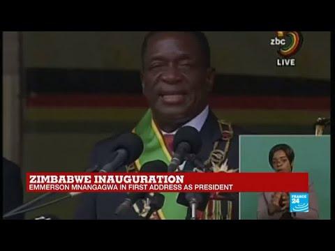 REPLAY - Watch Emmerson Mnangagwa's first speech as Zimbabwe's president
