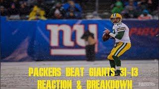 Packers Beat Giants 31-13 Reaction & Breakdown