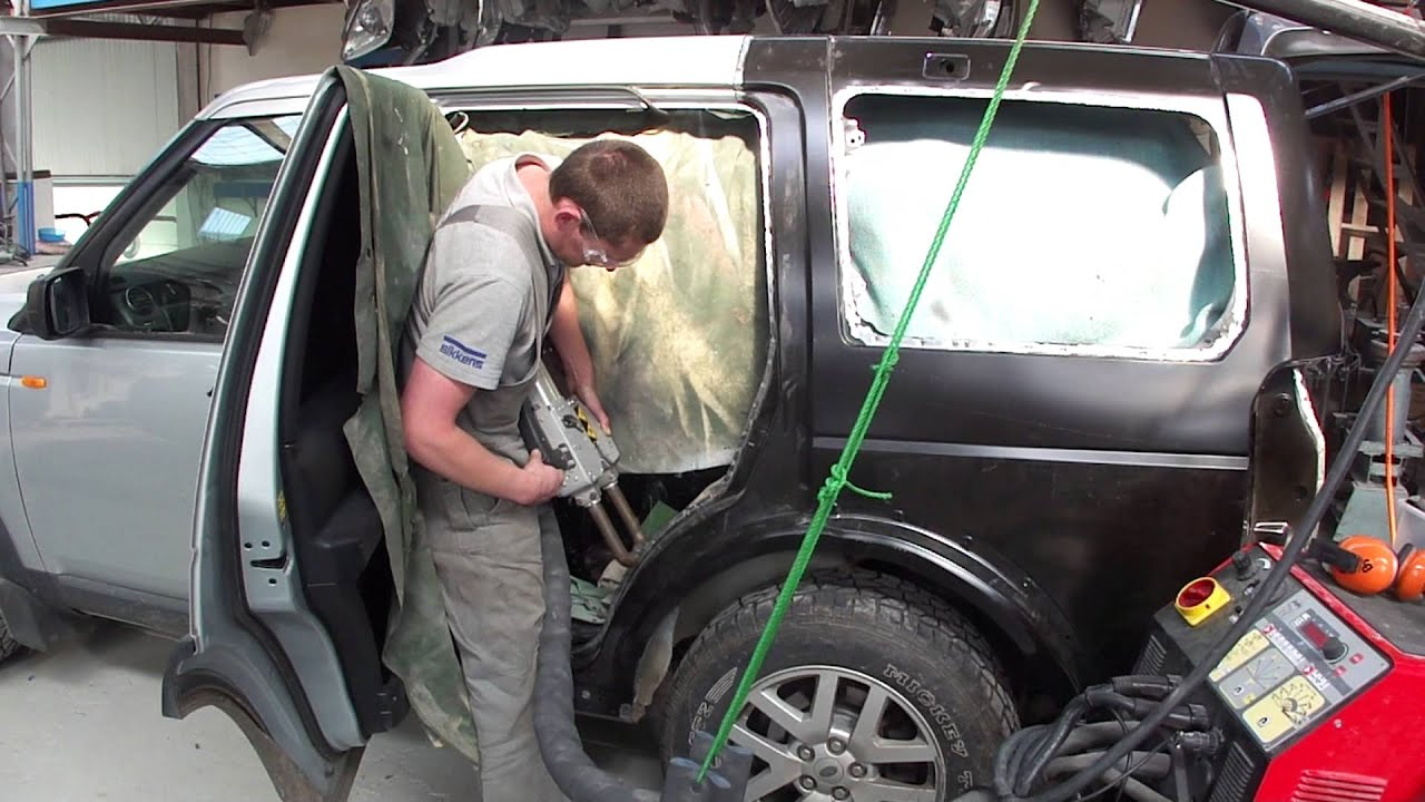 Spot Welding A Quarter Panel Youtube