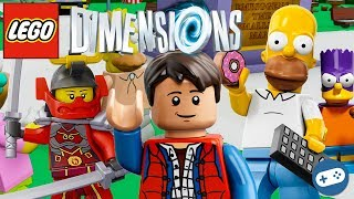 LEGO Dimensions Simpsons Cars Race Free Roam Gameplay