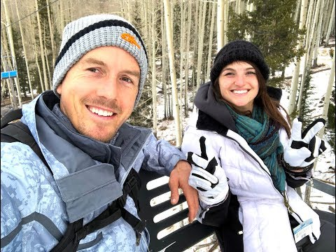SKIING & SNOWBOARDING TOGETHER + VEGAN DINNER | XMAS VLOG | Jake & Nicole