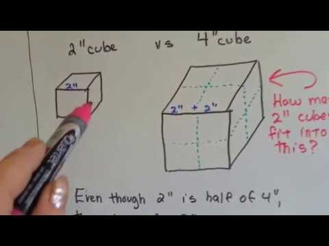Grade 5 Math #11.7, Find Volume with cube units
