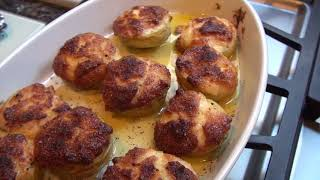 Stuffed Artichoke Bottoms -  Jeanie Jans