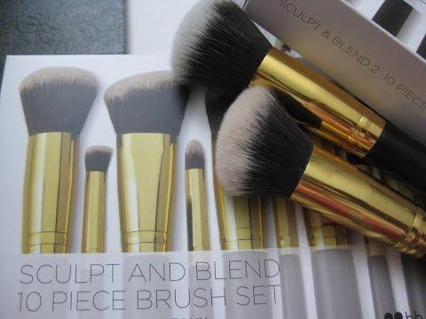 Review Bh Cosmetics Sculpt Blend 10 Piece Brush Set Youtube