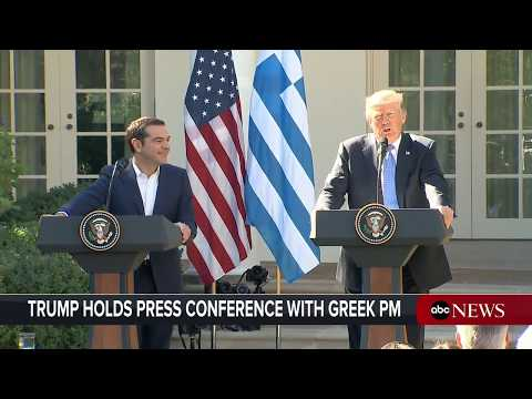 President Donald Trump, Greek Prime Minster Alexis Tsipras hold joint news conference