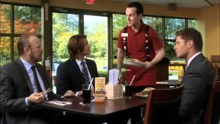 Supernatural 7x9 Салат- Большой птахе, бургер - куколке Кену и  салат для жуткого дяденьки