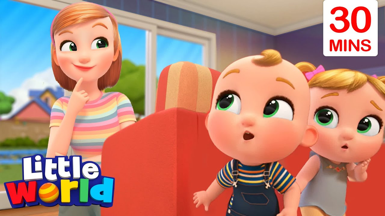 Peekaboo, I Found You! With Nina And Nico + More | Little World Nursery Rhymes And Educational Songs