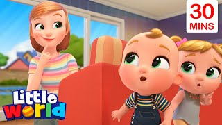 Peekaboo, I Found You! With Nina And Nico + More   Little World Nursery Rhymes And Educational Songs