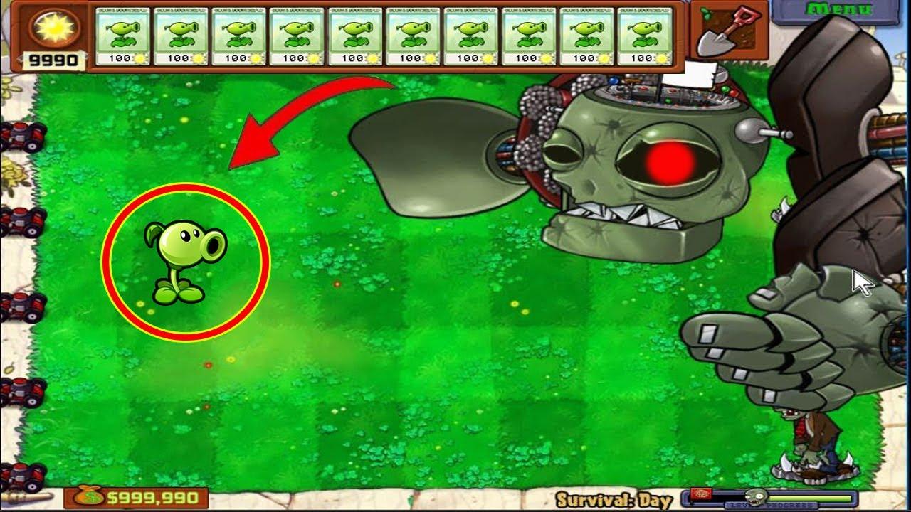 Plants vs Zombies - 1 Peashooter vs Dr. Zomboss