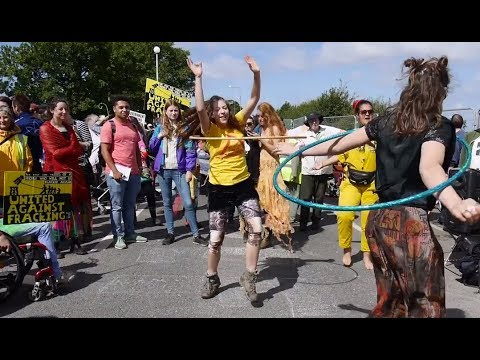 Carnival for a Frack Free Future - Preston New Road, Lancashire, 28 July 2017