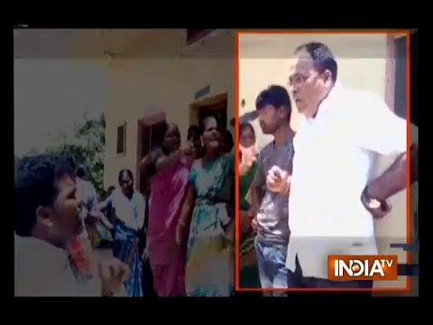 Telangana local body chief kicks woman on chest, video goes viral on social media