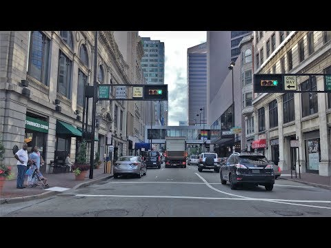 Driving Downtown - Cincinnati's Main Road - Cincinnati Ohio USA