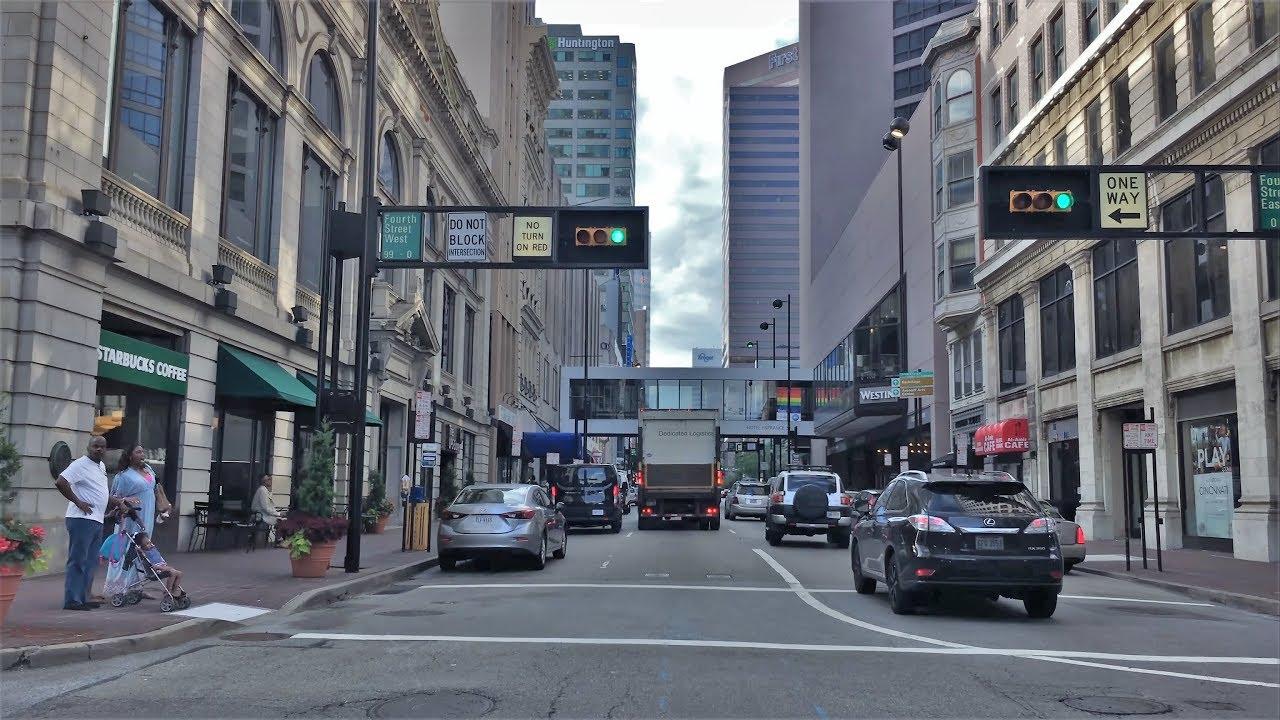 Driving Downtown - Cincinnati's Main Street 4K - USA