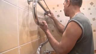 видео Высота столешницы в ванной, крепление на кронштейны и установка