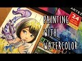 Painting with Watercolor ft. Arteza ♡  | SpeedPaint and First Impressions