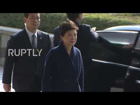 South Korea: Prosecutors interrogate impeached President Park