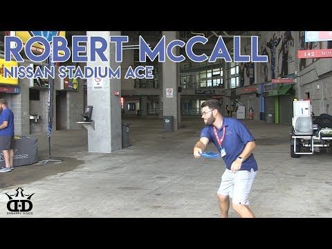 Robert McCall Disc Golf Hole in One (ACE) at 2017 Nissan Stadium Disc Golf Experience