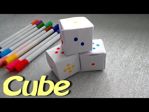 How to make a Cube out of Paper? Origami tutorial. Paper Folding
