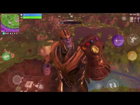 THANOS IN FORTNITE! (Infinity Gauntlet Fortnite IOS Gameplay) *VICTORY ROYALE*