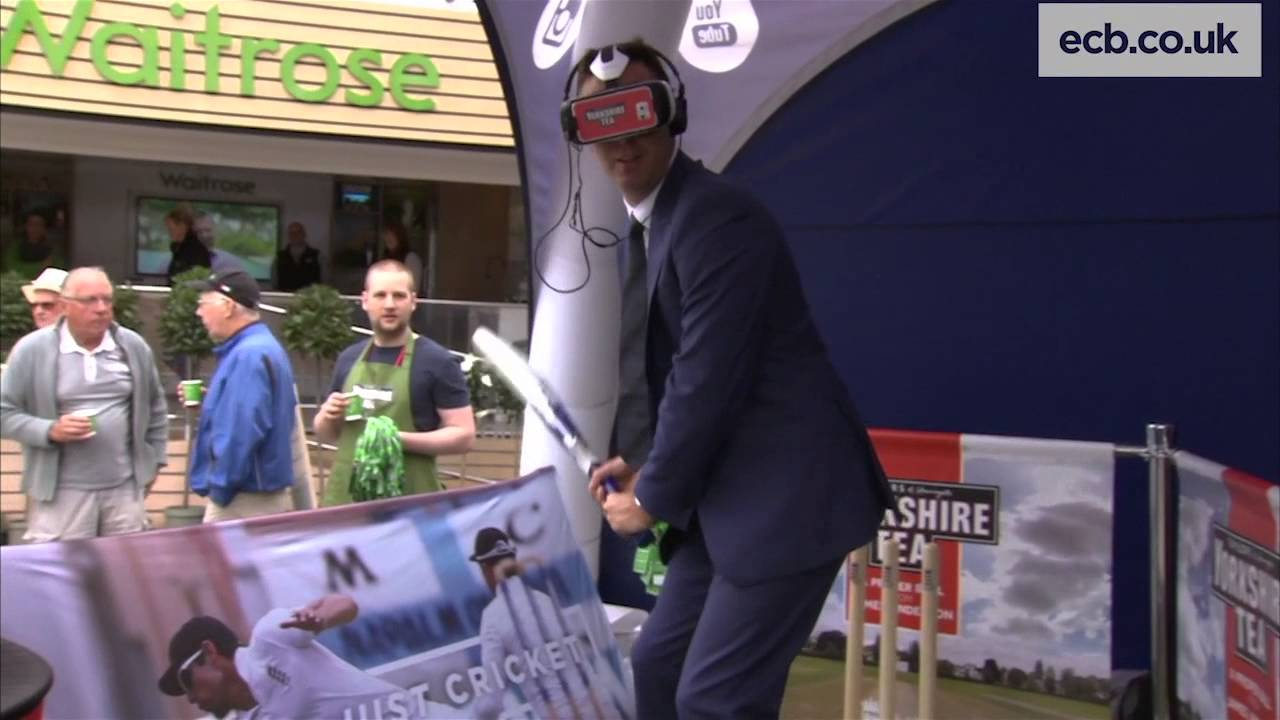 Michael Vaughan faces James Anderson - Yorkshire Tea and Oculus Rift