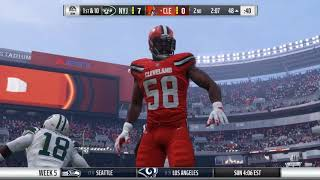 Madden 18 (PS4) Franchise Mode: New York Jets WEEK 5 Vs. BROWNS