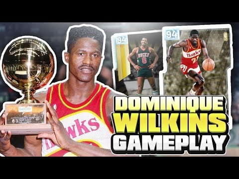 INSANE GLITCHED DIAMOND DOMINIQUE WILKINS GAMEPLAY!! HE DUNKS ON EVERYONE! NBA 2K19 MYTEAM
