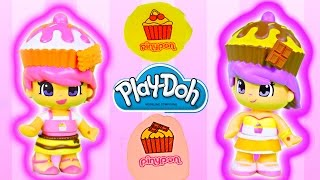 Play Doh Tattoos Pinypon Cupcake Cuties Famosa Mix Match Children Toys Plastilina Tatuajes