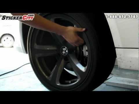 Оклейка колесных дисков BMW пленкой под карбон 3M Di-Noc
